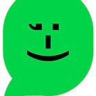 iPhone smiley (green) emoticon by Jovan Djordjevic