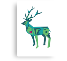 Abstract vector stag Canvas Print
