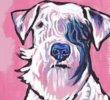 Sealyham Terrier Bright colorful pop dog art by bentnotbroken11