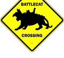 Battlecat Crossing Road Sign by hordak87