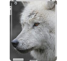Side Portrait of an Arctic Wolf iPad Case/Skin