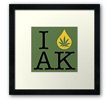 I Dab AK (Alaska) Framed Print