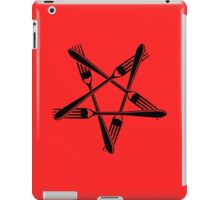 Fork Pentagram (black) iPad Case/Skin