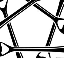Fork Pentagram (black) Sticker