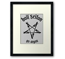 Hail Seitan 1.1 (black) Framed Print