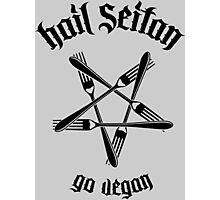 Hail Seitan 1.1 (black) Photographic Print