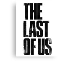 The Last of Us (title) (black) Canvas Print
