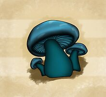 Mushroom Illustrated Differently by YoPedro