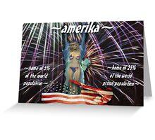 ~amerika~ (snippet) Greeting Card