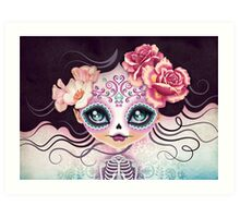 Camila Huesitos - Sugar Skull Art Print