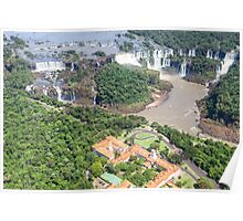 Iguazu Falls (from helicopter) - Brazil Poster