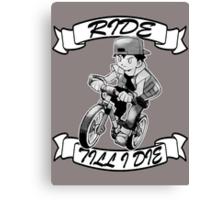 Pokemon Ride Till I Die (Different Font) Canvas Print