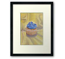 Vanilla Cupcake with Sprinkles Painting Framed Print