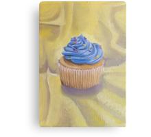 Vanilla Cupcake with Sprinkles Painting Metal Print