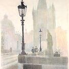 Charles Bridge, Prague, 1939 by Peter Brandt
