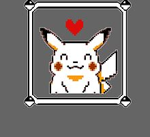 Happy Pikachu (Retro) by azzasg