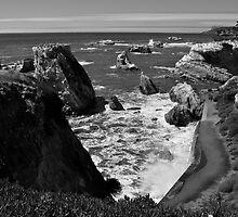 Cliffs, Sea, & Rocks - Shell Beach. by Nyal Bennett