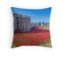 Poppies in the Moat 2 Throw Pillow