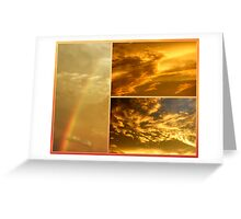 The Dragon and the Phoenix after the rain Greeting Card