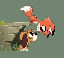 The Fox & The Hound - Todd and Copper by PagingDrLockart