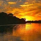 River Sunset by Barbara  Brown