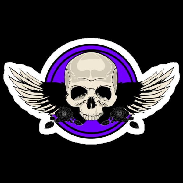 Wing Skull - PURPLE by Adamzworld