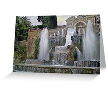 Raining up and down in Villa d'Este Greeting Card