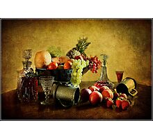Fruit and Wine  Photographic Print