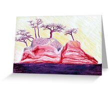 Drawing Day Purple Bonsai Island Greeting Card