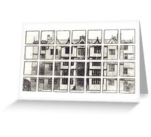 Fragmented Architecture Greeting Card