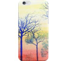 Sunset with Blue Trees iPhone Case/Skin
