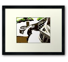 ALONG THE SPIRAL STAIRWAY Framed Print