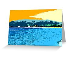 GREENCASTLE BY THE SEA Greeting Card