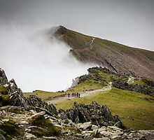 Snowdon Walkers and Landscape by Heidi Stewart
