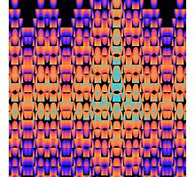 Glowing pattern in purple, orange and blue by walstraasart