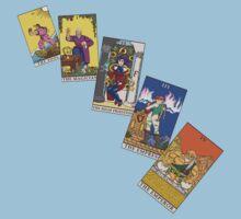 Tarot Cards 0 - 4 by alexanderarts