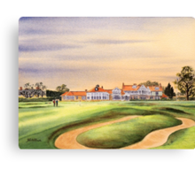 Muirfield Golf Course 18Th Green Canvas Print