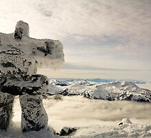 The Inukshuk of Blackcomb by Ryan Davison Crisp