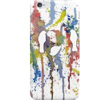 Colorful birds watching fireworks-original iPhone Case/Skin