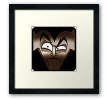 Dracula - Sepia Framed Print