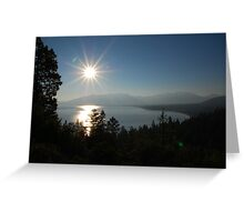Sunrise at Lake Tahoe Greeting Card