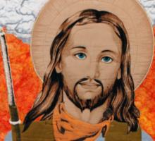JESUS GET YOUR GUN WITH TEXT Sticker