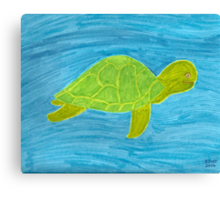 Tommy the Turtle Canvas Print
