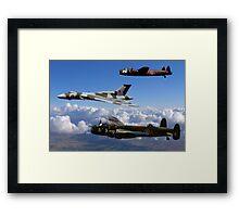 Avro Vulcan and Lancasters Framed Print