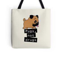 Little Pugs Not Drugs Tote Bag