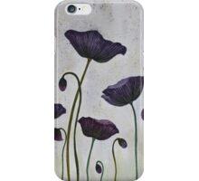 Purple Poppies iPhone Case/Skin