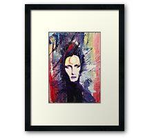 David Bowie Ziggy Stardust painting Framed Print