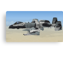 The Fairchild Republic A-10 Thunderbolt II Canvas Print