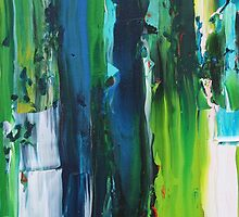 stripe blue and green by jora