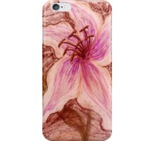 Stargazer Lily in Pastel shirt iPhone Case/Skin